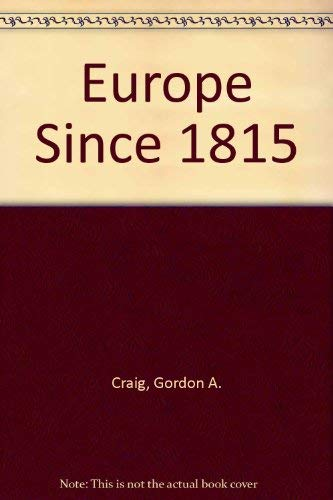 9780030892110: Europe Since 1815