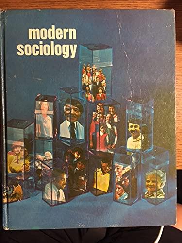 9780030892189: Moder Sociology