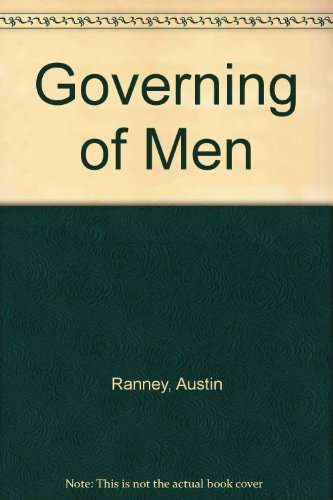 9780030892387: Governing of Men