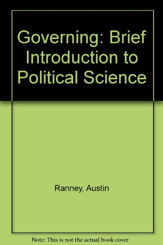 9780030892394: Governing: Brief Introduction to Political Science