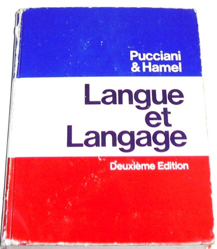 9780030892424: Langue et langage (French Edition)