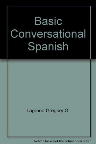 9780030892509: Basic Conversational Spanish