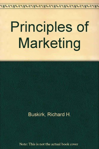 9780030894008: Principles of Marketing