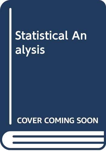 9780030894220: Statistical Analysis
