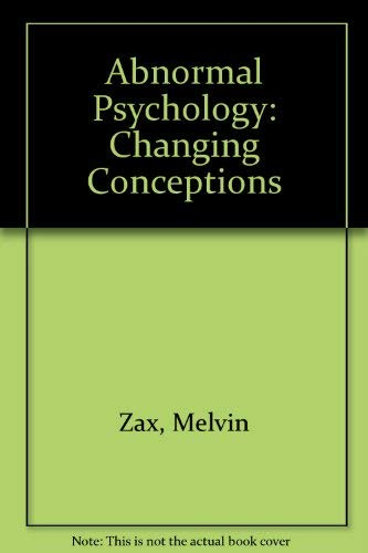 9780030895173: Abnormal Psychology: Changing Conceptions