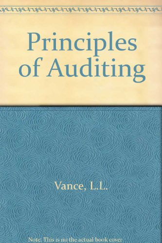 9780030895289: Principles of Auditing