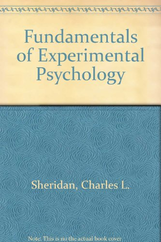 9780030895388: Fundamentals of Experimental Psychology