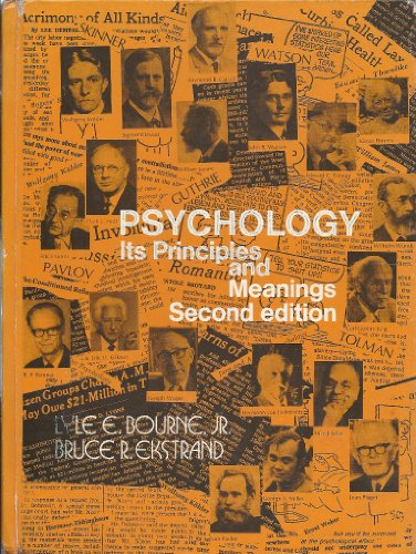 9780030896286: Psychology: Its Principles and Meanings