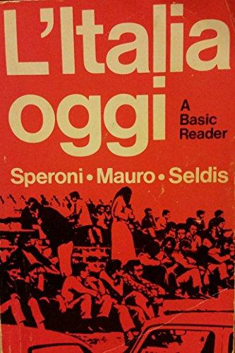 9780030896484: L'Italia Oggi: A Basic Reader