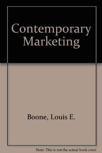 9780030896712: Contemporary Marketing