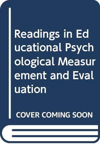 9780030896804: Readings in measurement and evaluation in education and psychology