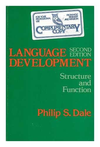 9780030897054: Language Development: Structure and Function