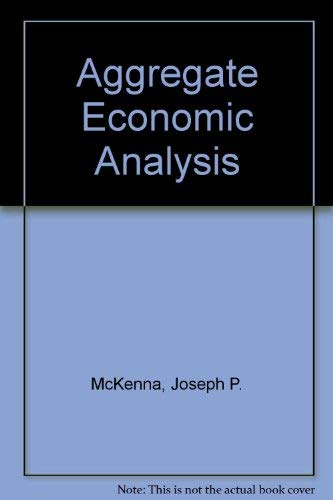 9780030897078: Aggregate Economic Analysis