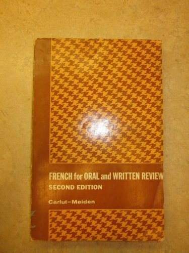 9780030897269: French for Oral and Written Review