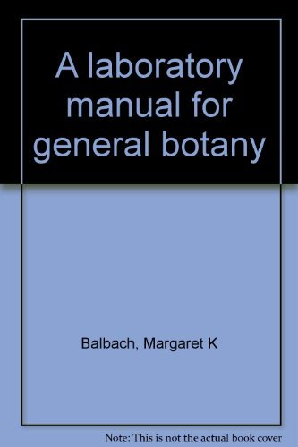 9780030897498: A laboratory manual for general botany