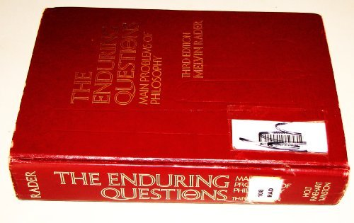 9780030898044: The enduring questions: Main problems of philosophy