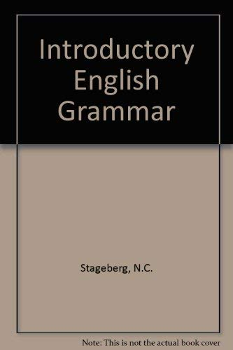 9780030899195: Introductory English Grammar
