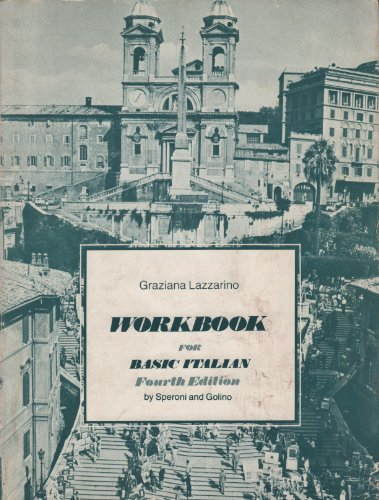 9780030899560: Workbook for Basic Italian, fourth edition, by Speroni and Golino
