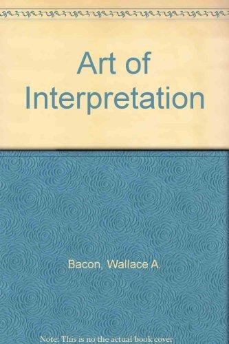 9780030899584: Art of Interpretation
