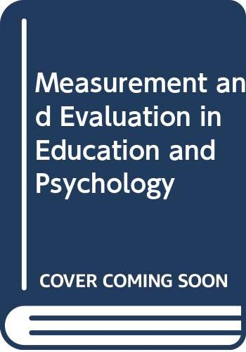 9780030899669: Measurement and Evaluation in Education and Psychology