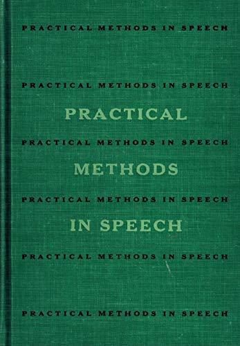 9780030912047: Practical Methods in Speech