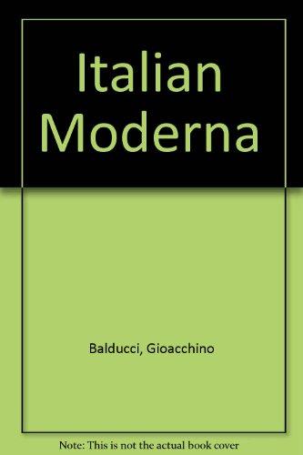9780030912245: Italian Moderna