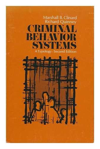 9780030912535: Criminal Behaviour Systems: A Typology