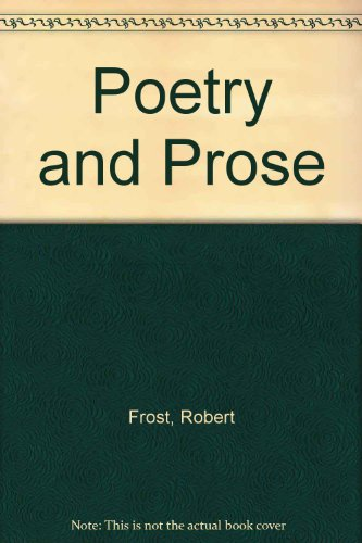 9780030912993: Poetry and Prose