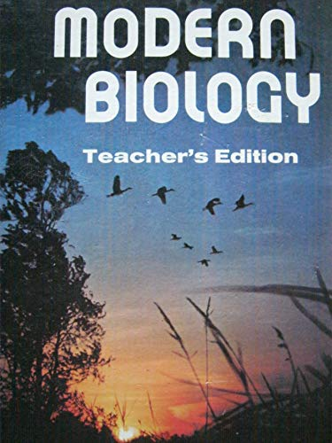 9780030913389: Modern Biology/Teacher's Edition
