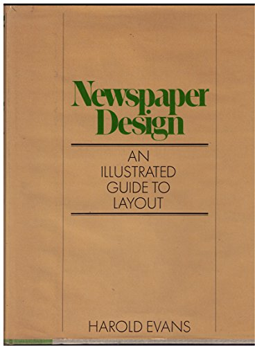 9780030913488: Editing and Design : Book 5: Newspaper Design / [By] Harold Evans