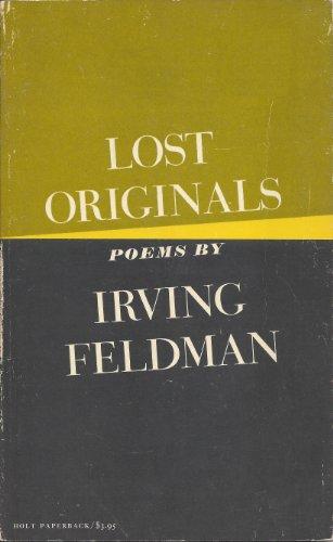 9780030914638: Title: Lost originals poems