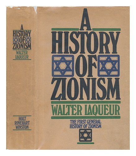 9780030916144: A history of Zionism