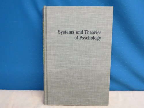9780030919862: Systems and Theories of Psychology