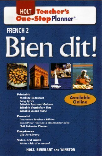 9780030920042: Teacher's One-Stop Planner French 2 Bien dit!