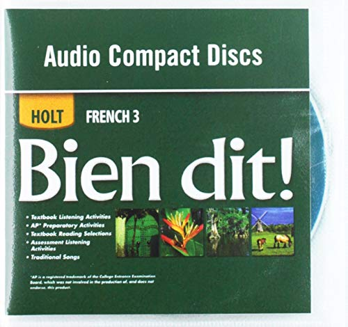 9780030920363: Bien dit!: Audio CD Program Level 3