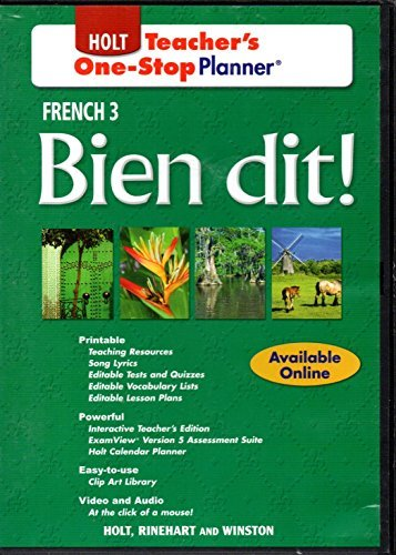 9780030920455: Bien dit!: French 3 - Teacher's One-Stop Planner