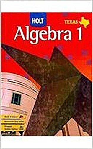 9780030921629: Holt Algebra 1 Texas: Student Edition (Spanish) Algebra 1 2007
