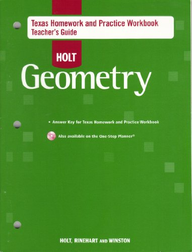 9780030921698: Holt Geometry Texas Homework and Practice Workbook Teacher's Guide