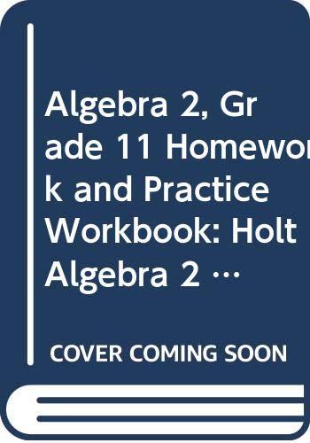 9780030921810: Holt Algebra 2 Texas: Homework and Practice Workbook Algebra 2