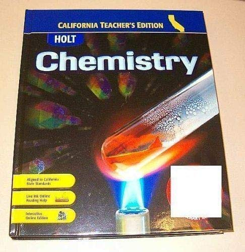 9780030922053: Holt Chemistry California Teacher's Edition