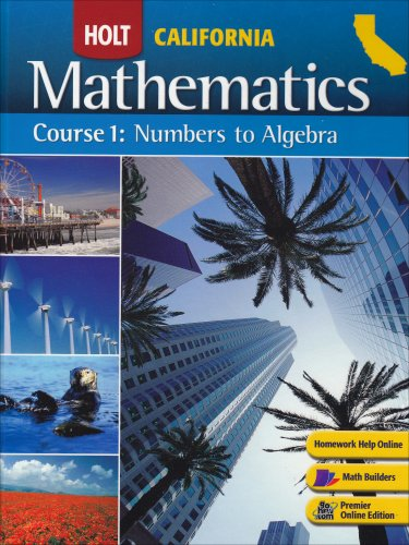 9780030923159: Holt Mathematics California: Student Edition Course 1 2008