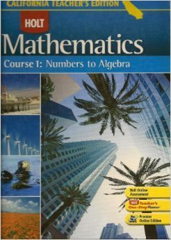 9780030923180: Holt Mathematics, Course 1: Numbers to Algebra
