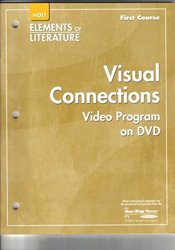 9780030923555: Holt Elements of Literature First Course: Visual Connections: Video Program on DVD