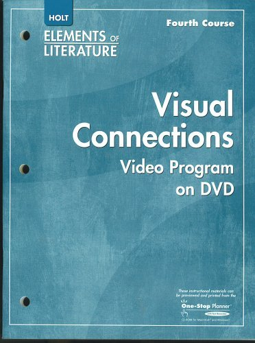 9780030923586: Visual Connections Video Program on DVD, with Teacher's Manual (DVD Segment Titles: sharing stories, Chinese Americans: culture and contributions; hard choices and human compassion; fateful jouney, thrills and chills: Edgar Allen Poe;, strength and spirit: Robert Frost; favorite poetry project: We Real Cool; watching a war: Vietnam on TV; for love and honor; swords on stage)
