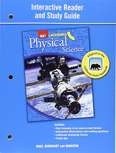 interactive reader and study guide holt california physical science rh abebooks com Holt California Physical Science Safety Symbols Holt California Physical Science Book