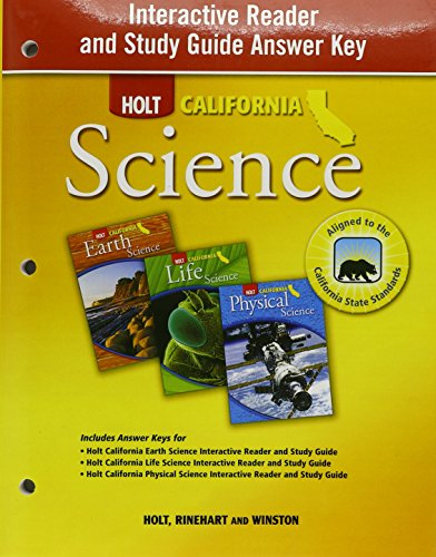 9780030924965: Interactive reader and Study Guide Answer Key (Holt California Science)