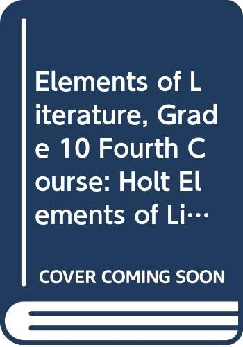 9780030925146: Holt Elements of Literature, 4th Course, Kentucky Edition