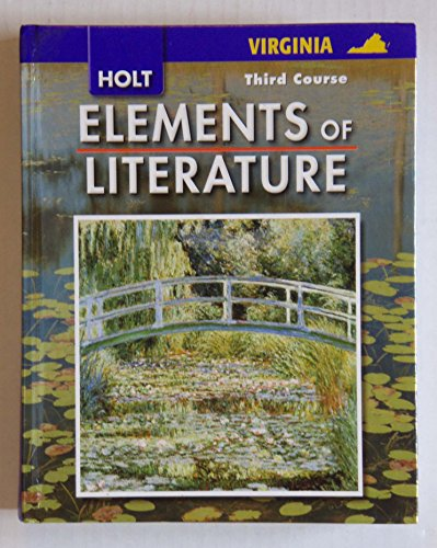 9780030925436: Elements of Literature Virginia: Student Edition Grade 9 Third Course 2007