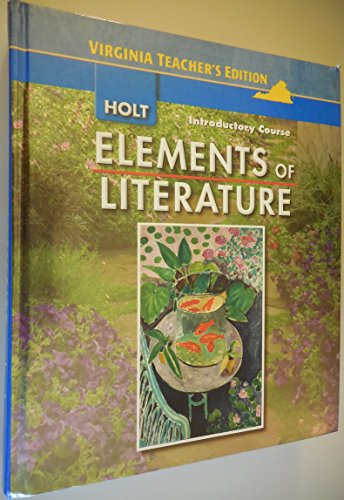 9780030925535: Elements of Literature (Introductory Course, Teachers Edition)