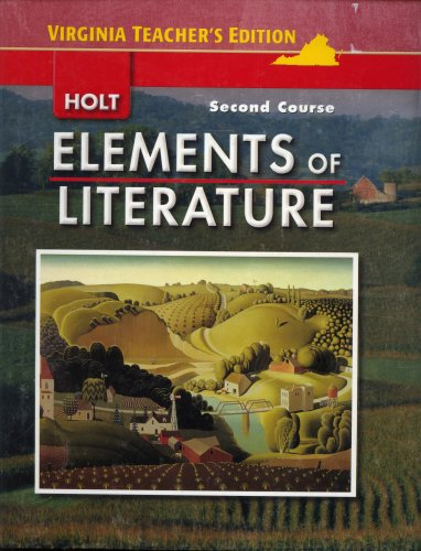 9780030925559: Elements of Literature (Second Course, Teachers Edition)